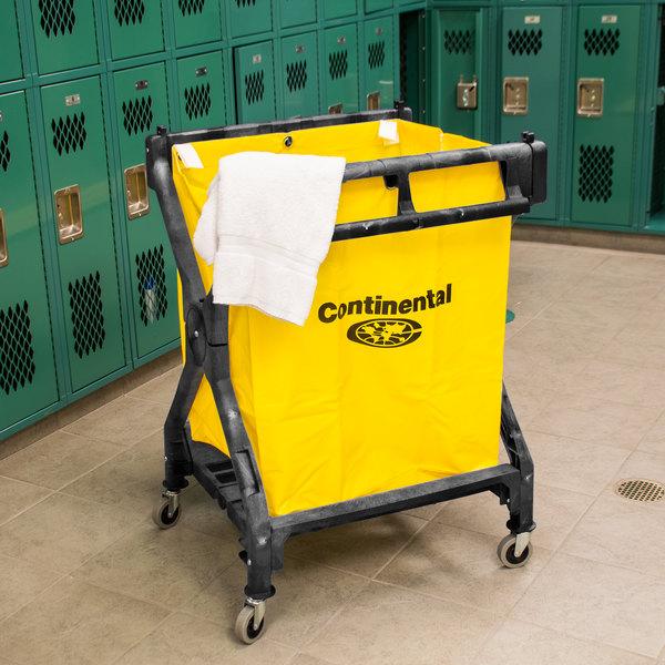 Continental Laundry Cart, Huskee 275 Black X Frame Folding Cart