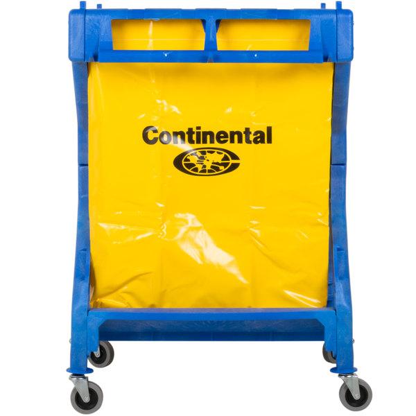 Continental 275 Huskee Blue X Frame Folding Laundry Cart