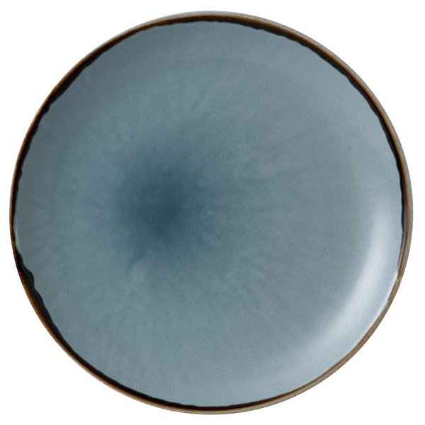 "Dudson HBL21 Harvest 8 11/16"" Blue Coupe Round China Plate by Arc Cardinal - 12/Case Main Image 1"