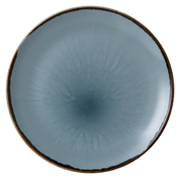 """Dudson HBL26 Harvest 10 1/4"""" Blue Coupe Round China Plate by Arc Cardinal - 12/Case Main Image 1"""