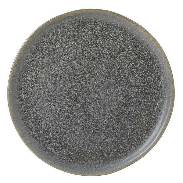 "Dudson EG254 Evo 10"" Matte Granite Flat Round Stoneware Plate by Arc Cardinal - 12/Case Main Image 1"