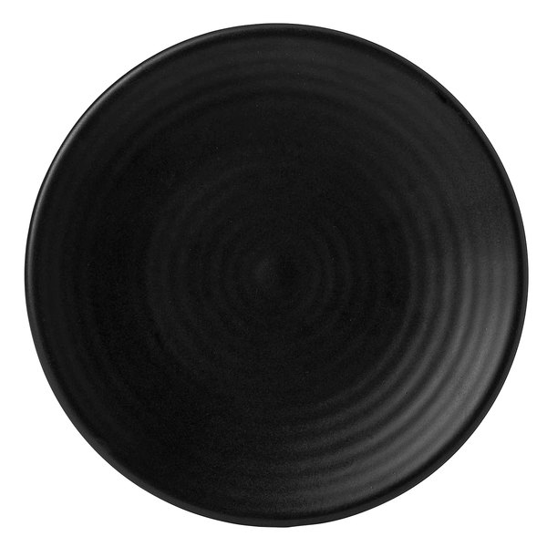 """Dudson EJ162 Evo 6 3/8"""" Matte Jet Coupe Round Stoneware Plate by Arc Cardinal - 24/Case Main Image 1"""