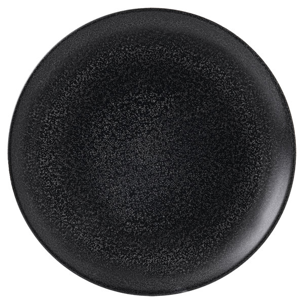 "Dudson EB260 Evo Origins 10 3/4"" Black Coupe Round China Plate by Arc Cardinal - 12/Case Main Image 1"