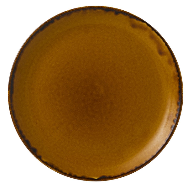 """Dudson HB288 Harvest 11 1/4"""" Brown Coupe Round China Plate by Arc Cardinal - 12/Case Main Image 1"""