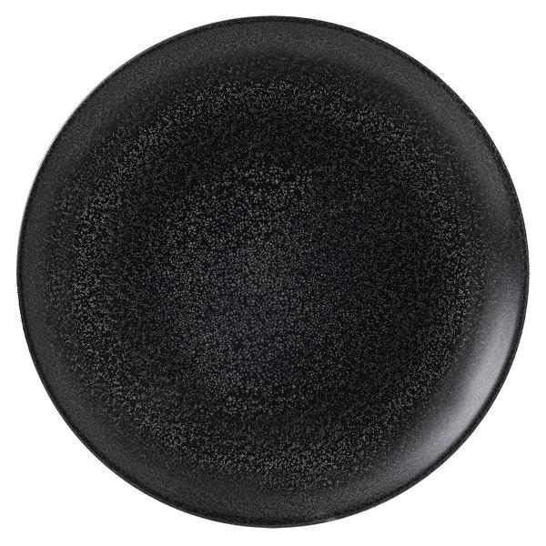 "Dudson EB288 Evo Origins 11 5/8"" Black Coupe Round China Plate by Arc Cardinal - 12/Case Main Image 1"