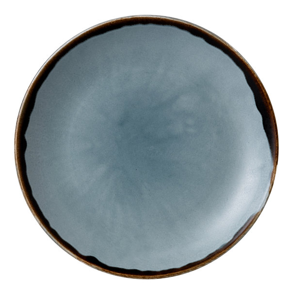 "Dudson HBL16 Harvest 6 1/2"" Blue Coupe Round China Plate by Arc Cardinal - 12/Case Main Image 1"
