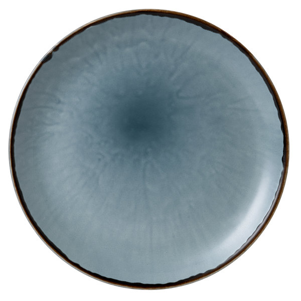 """Dudson HBL28 Harvest 11 1/4"""" Blue Coupe Round China Plate by Arc Cardinal - 12/Case Main Image 1"""
