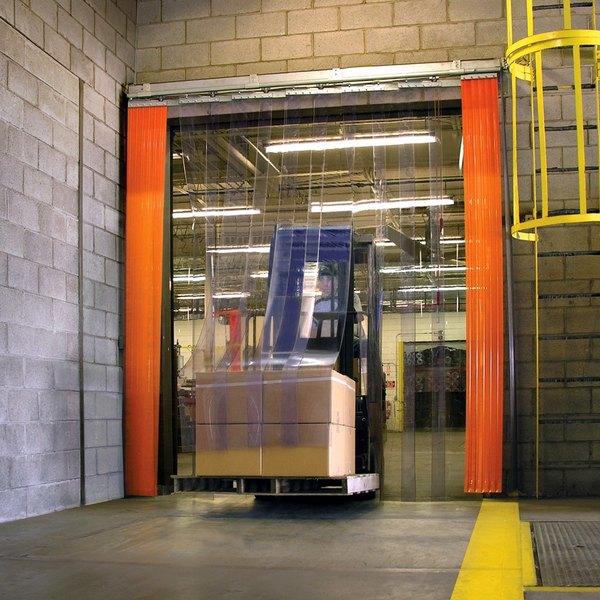 "Curtron QSD-8-50-UM-72X96 72""W x 96""H Transparent Clear PVC Strip Door - Standard Grade"