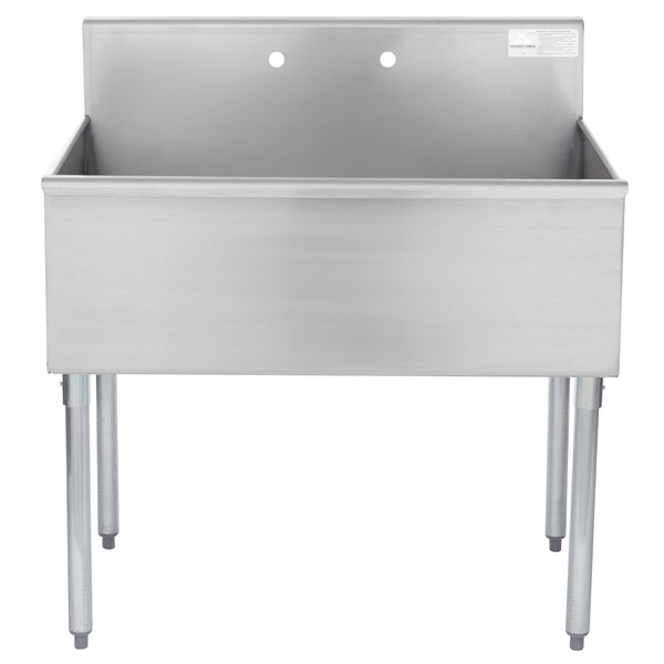 """Advance Tabco 4-41-36 One Compartment Stainless Steel Commercial Sink - 36"""""""