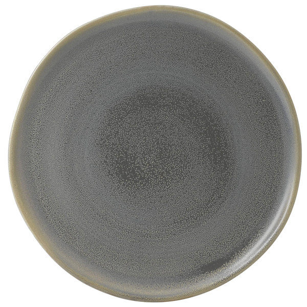 "Dudson EV318 Evo 12 1/2"" Matte Granite Flat Round Stoneware Plate by Arc Cardinal - 8/Case Main Image 1"