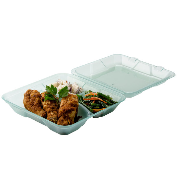 "GET EC-06 9"" x 9"" x 2 3/4"" Jade Green Customizable Reusable Eco-Takeouts Container - 12/Pack"