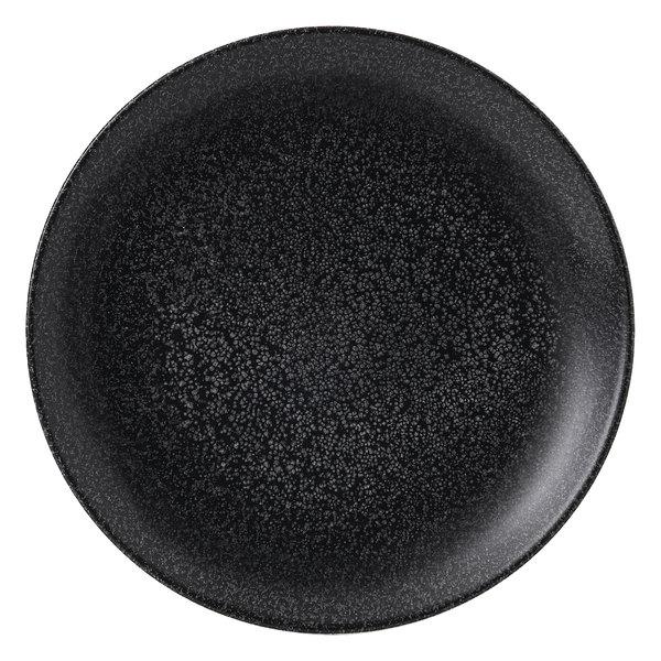 "Dudson EB165 Evo Origins 6 3/8"" Black Coupe Round China Plate by Arc Cardinal - 12/Case Main Image 1"