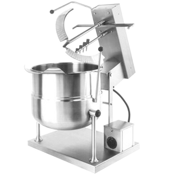 Cleveland MKDT-12-T 12 Gallon Tilting 2/3 Steam Jacketed Direct Steam Tabletop Mixer Kettle - 120V Main Image 1