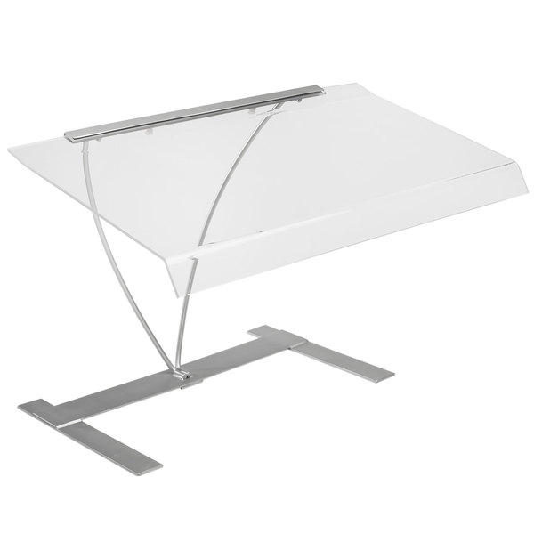 Cal-Mil 1018 Acrylic Sneeze Guard with Silver Metal Frame