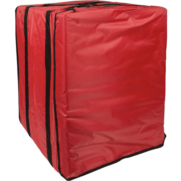 """American Metalcraft PBBAG26 Replacement Standard Red Nylon Pizza Delivery Bag, 19"""" x 19"""" x 27"""" Main Image 1"""