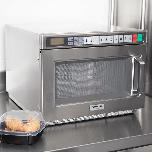 Panasonic NE-12521 Stainless Steel Medium Duty Commercial Microwave Oven - 120V, 1200W