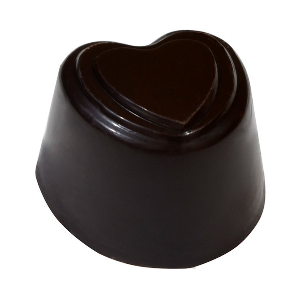 Fat Daddio's PCM-1012 ProSeries Polycarbonate 24 Compartment Embossed Heart Chocolate Mold Main Image 3