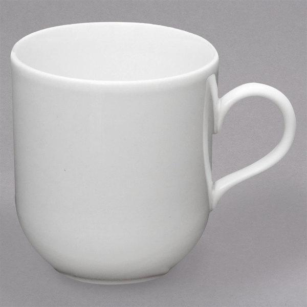 Homer Laughlin by Steelite International HL20256800 Ameriwhite Alexa 14 oz. Bright White China Mug - 12/Case Main Image 1