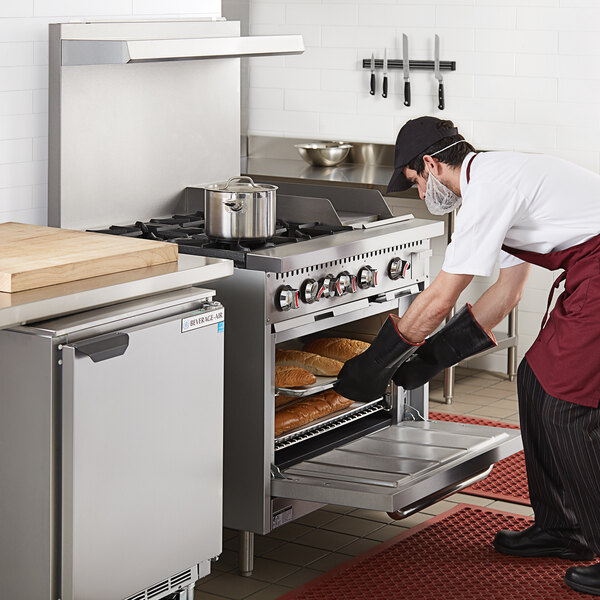 """Cooking Performance Group S36-G12-N Natural Gas 4 Burner 36"""" Range with 12"""" Griddle and Standard Oven Main Image 5"""