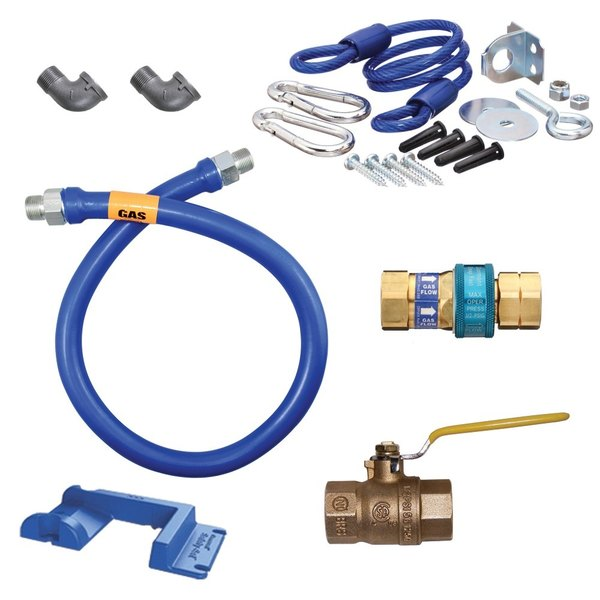 "Dormont 1650KIT48PS Deluxe SnapFast® 48"" Gas Connector Kit with Safety-Set® - 1/2"" Diameter"