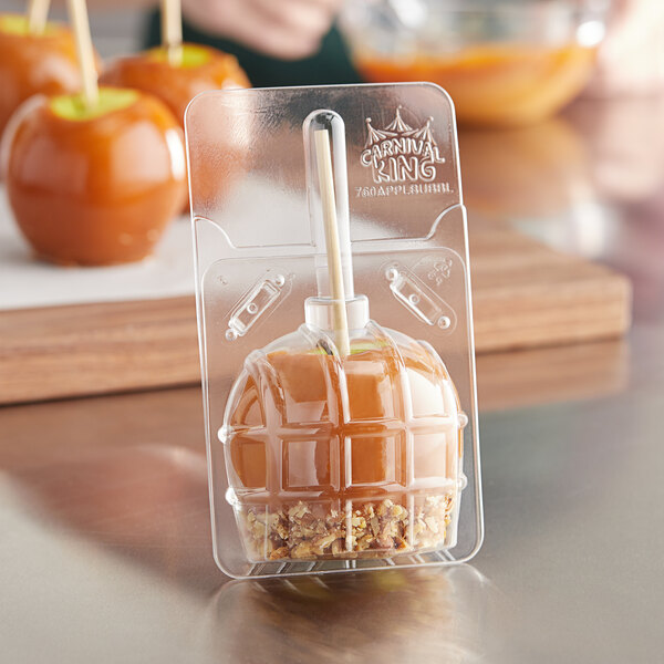 Carnival King Large Disposable Candy Apple Bubble - 50/Pack Main Image 2