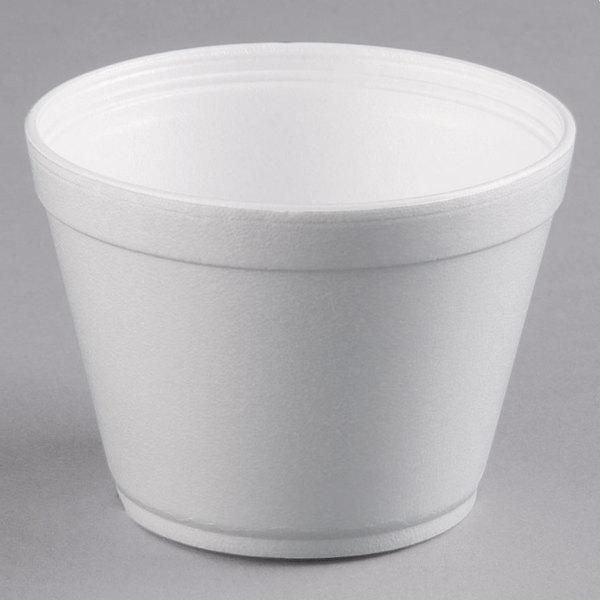 Dart 16MJ32 16 oz. Squat White Foam Bowl - 25/Pack