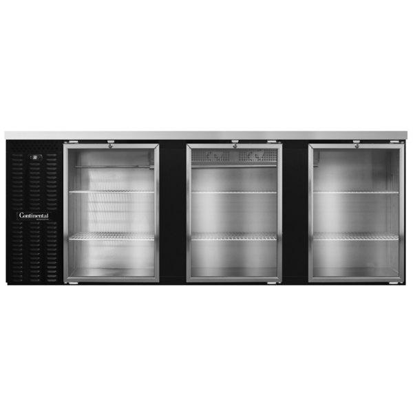 "Continental Refrigerator BB90NGD 90"" Black Glass Door Back Bar Refrigerator Main Image 1"