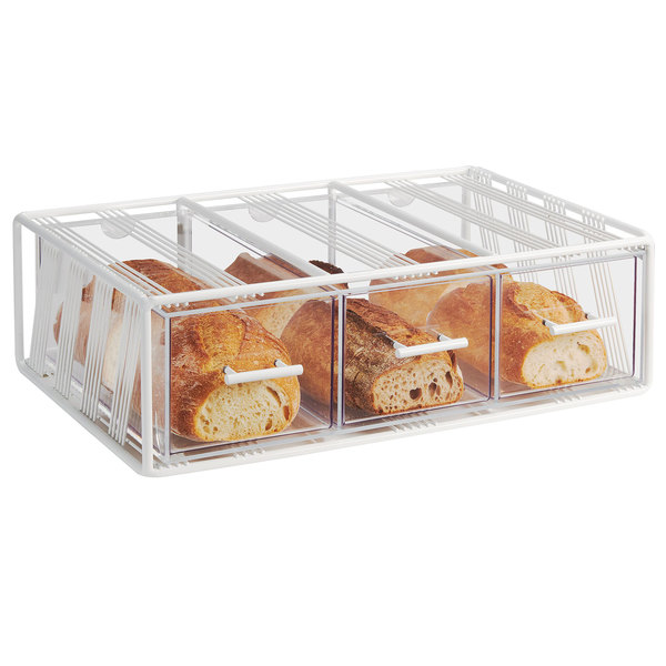 Cal Mil 4119 15 Portland White 3 Drawer Bread Display Case 22 1 4 X 14 3 4 X 7