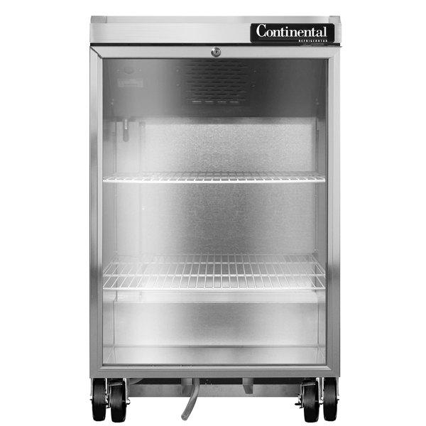 "Continental Refrigerator BB24NGD 24"" Black Glass Door Back Bar Refrigerator Main Image 1"