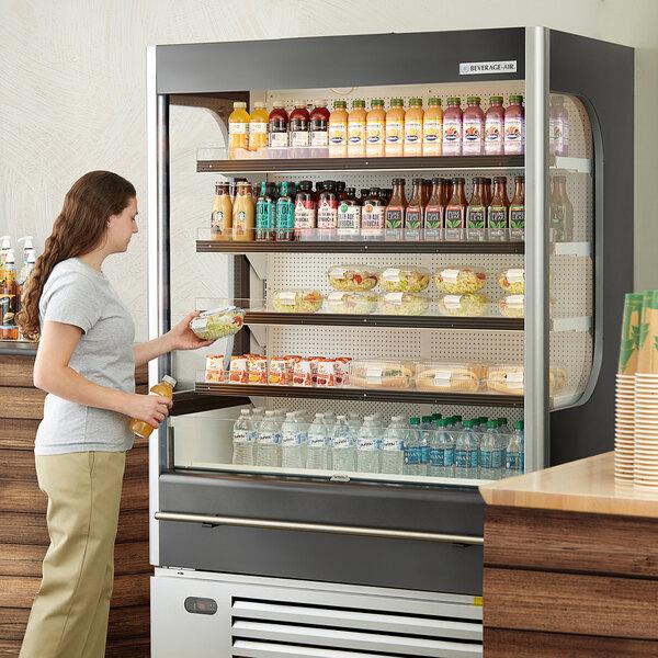 """Beverage-Air VMHC-18-1-G VueMax 51 3/4"""" Gray Air Curtain Merchandiser Main Image 5"""