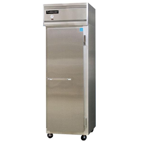 "Continental Refrigerator 1FSN 26"" Solid Door Shallow Depth Reach-In Freezer Main Image 1"