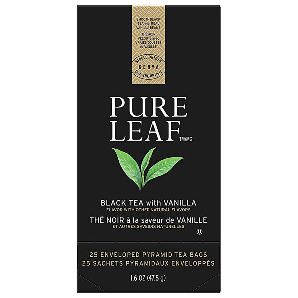 Pure Leaf Black Tea with Vanilla Pyramid Tea Sachets - 25/Box