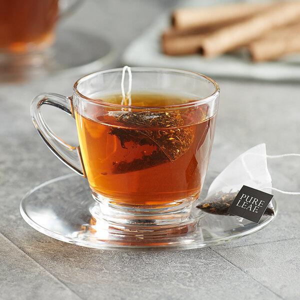Pure Leaf Black Tea with Vanilla Pyramid Tea Sachets - 25/Box Main Image 3