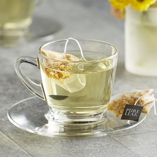 Pure Leaf Chamomile Herbal Pyramid Tea Sachets - 20/Box Main Image 3