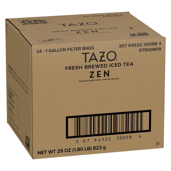 Tazo 1 Gallon Zen Green Iced Tea Filter Bags - 24/Case