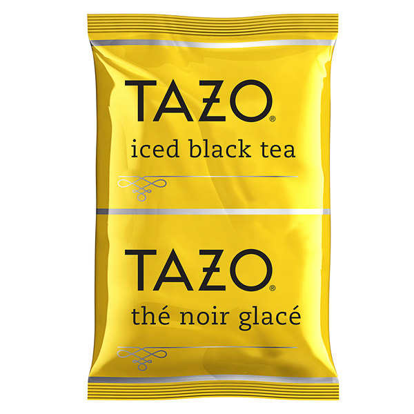 Tazo 3 Gallon Black Loose Leaf Iced Tea Packets - 48/Case