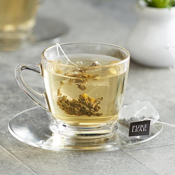 Pure Leaf Organic Gunpowder Green Pyramid Tea Sachets - 25/Box Main Image 3