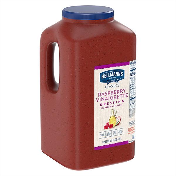 Hellmann's 1 Gallon Raspberry Vinaigrette Dressing - 4/Case