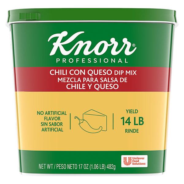 Knorr 1.06 lb. Chili Con Queso Dip Mix - 6/Case