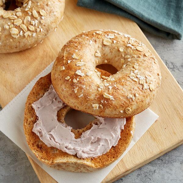 Original Bagel 4.5 oz. New York Style Wheat Bran Bagel - 75/Case Main Image 2