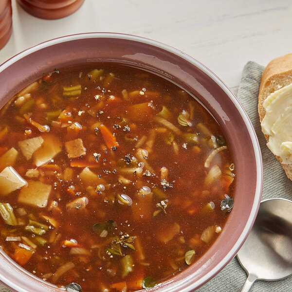 Knorr 13.9 oz. Soup du Jour Beef Flavored Vegetable and Barley Soup Mix - 4/Case Main Image 2