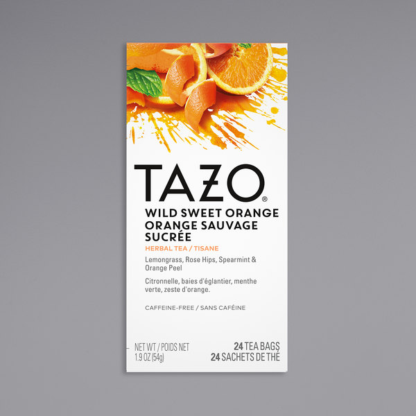 Tazo Wild Sweet Orange Tea Bags - 24/Box