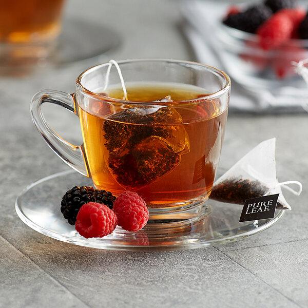 Pure Leaf Black Tea with Berries Pyramid Tea Sachets - 25/Box Main Image 3