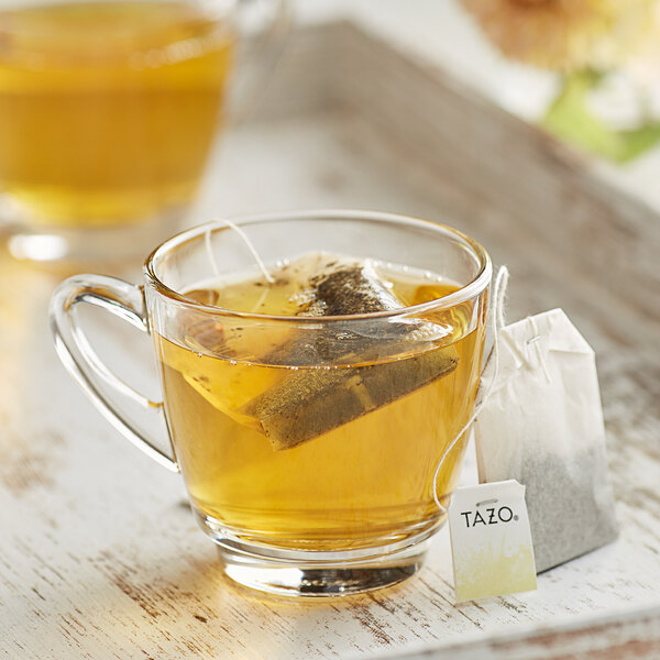 Tazo Decaf Lotus Blossom Green Tea Bags - 24/Box Main Image 3