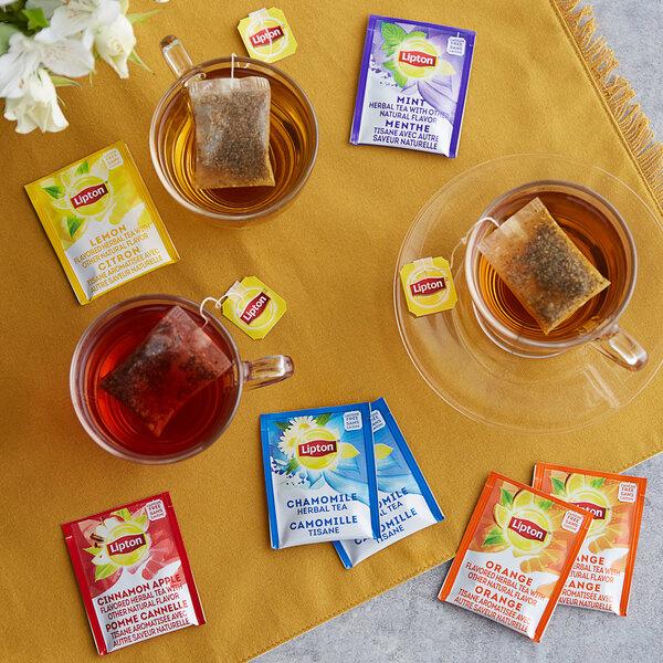 Lipton 28-Count Assorted Herbal Tea Bag Pack - 6/Case Main Image 2