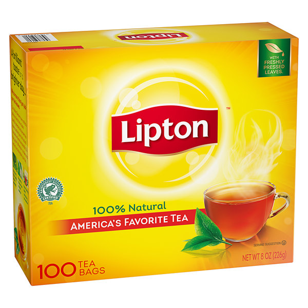 Lipton Classic Black Tea Bags - 100/Box