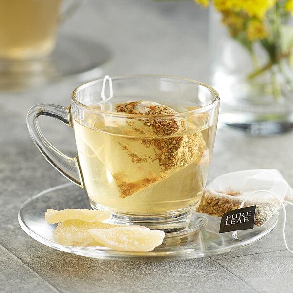 Pure Leaf Organic Ginger with Orange Blossom Herbal Pyramid Tea Sachets - 20/Box Main Image 3