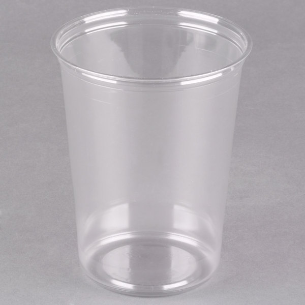 Fabri-Kal Alur RD32 32 oz. Recycled Customizable Clear PET Plastic Round Deli Container - 500/Case
