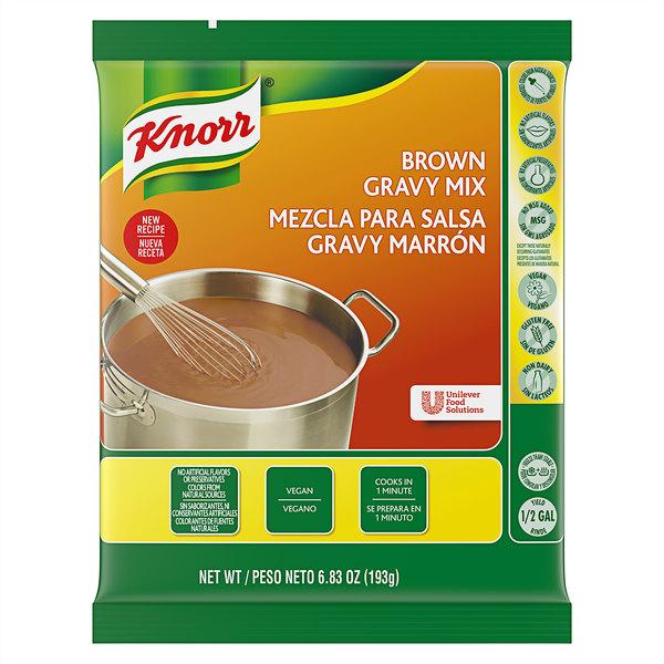 Knorr 6.83 oz. Brown Gravy Mix - 6/Case