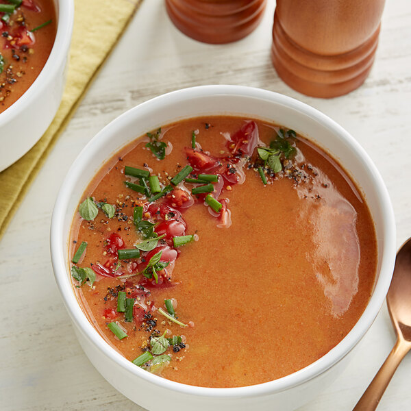 Knorr 17.1 oz. Soup du Jour Creamy Tomato and Roasted Red Pepper Soup Mix - 4/Case Main Image 2